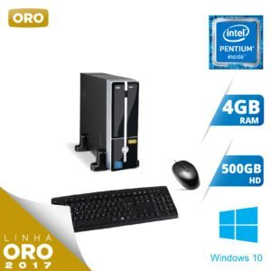 MICRO INTEL G4560 / 4GB / 500GB / H110 / WINDOWS 10 PROFESSIONAL – ORO