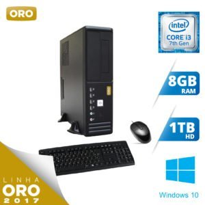 WORKSTATION INTEL I3-7100 / 8GB / 1TB / H110 / WINDOWS 10 PROFESSIONAL – ORO