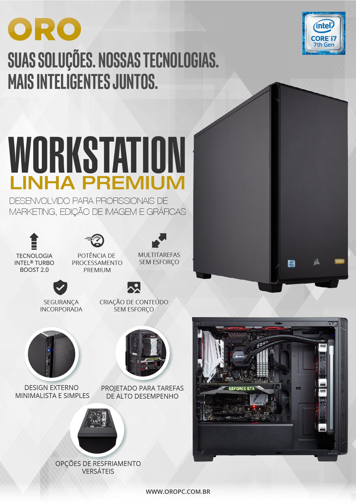 WORKSTATION INTEL I7-7700 16GB / 2TB / SSD 240 / GTX 1060 6GB/ WINDOWS 10 PROFESSIONAL - ORO 3