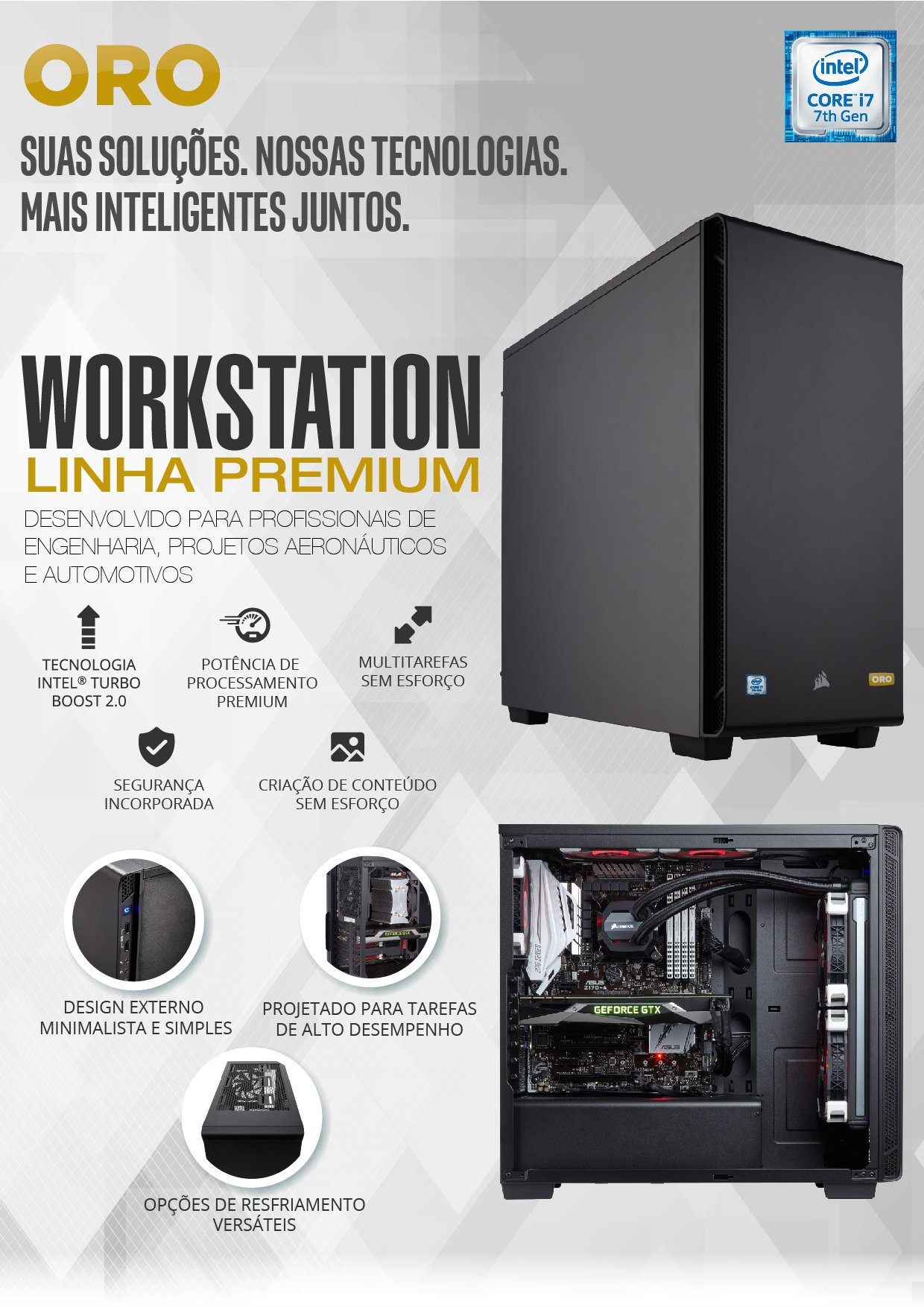 WORKSTATION INTEL I7-7700 16GB / 2TB / SSD 240 / QUADRO 2GB / LINUX - ORO 3
