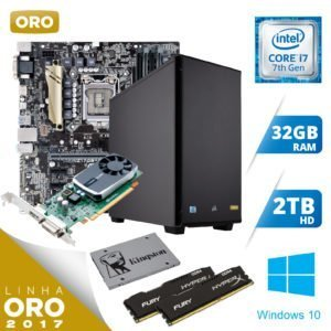 WORKSTATION INTEL I7-7700 32GB / 2TB / SSD 240 / QUADRO 5GB / WINDOWS 10 PROFESSIONAL - ORO 1