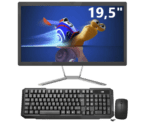 All in One ORO 19,5″, Intel Celeron J1900 2,00Ghz, 8GB, SSD 120GB, Linux, Teclado e Mouse
